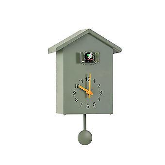 3 Zoll Smart Time Nordic Style Wanduhr Kuckuck aus dem Fenster Zeit Signal Wanduhr Vogel stündlich