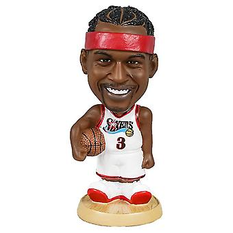 Sofirn Allen Iverson Action Figure Statue Bobblehead Basketball Doll Decoration