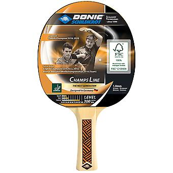 Donic Schildkrot Champs Line 300 Table Tennis Paddle Bat ITTF Approved Racket