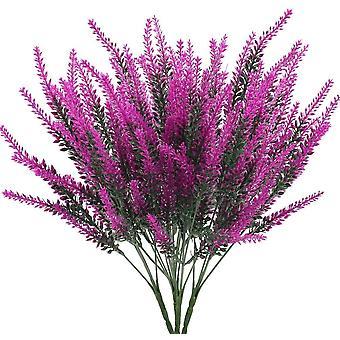 4 Pcs Fleurs artificielles Lavande Fleurs artificielles Lavande Plantes artificielles violettes Plantes artificielles -rose Rouge