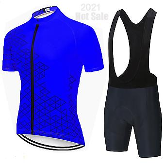 Comfortable Fashion Cycling Jersey Set 2021 Breathable Bicycle Clothes Ciclismo Clothes Summer Man Short Sleeve