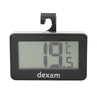 Dexam Digital Fridge Freezer Thermometer, Black