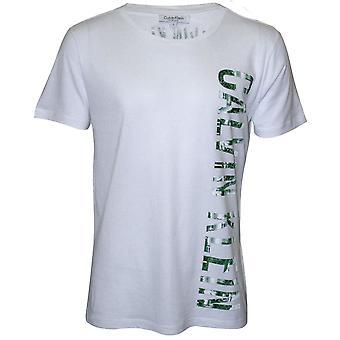 Calvin Klein intens makt pluss avslappet Crew-hals t-skjorte, hvit