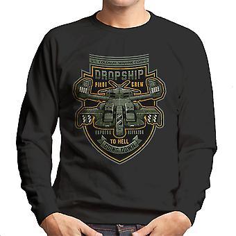 Express Elevator To Hell Aliens Men's Sweatshirt