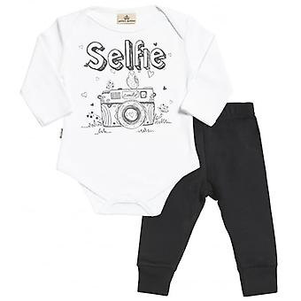 Spoilt Rotten Selfie Babygrow & Jersey Trousers Outfit Set