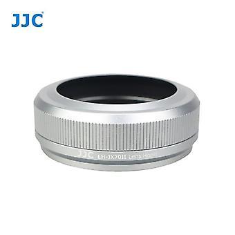 JJC JX70II ασήμι-φακός προσαρμογέα φίλτρου και κουκούλα φακού για Φουτζιροταινία FinePix X70-αντικαθιστά Φουτζιτζόλ-X70-για την αυθεντική Fuji καπάκι φακού