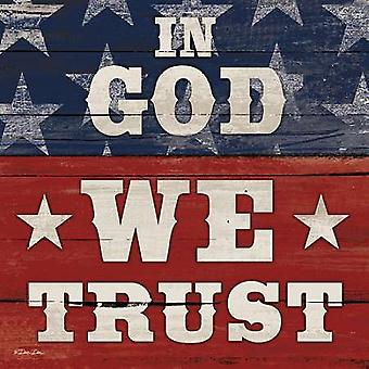 In God We Trust Poster Print by Dee Dee (12 x 12)