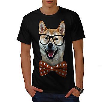 Smart Shiba Inu koiran miesten BlackT-paita | Wellcoda