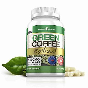 Green Coffee Bean Extract 5,000mg - 60 Capsules - Fat Burner - Evolution Slimming