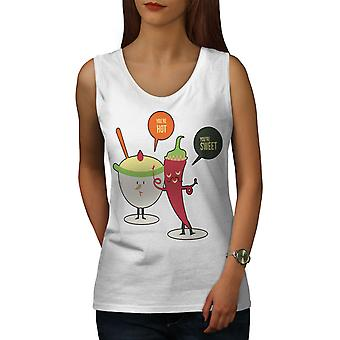 Hot Sweet Coffee Funny Women WhiteTank Top | Wellcoda