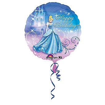 أمسكان 18 بوصة ديزني سندريلا عيد ميلاد سعيد التعميم إحباط بالون
