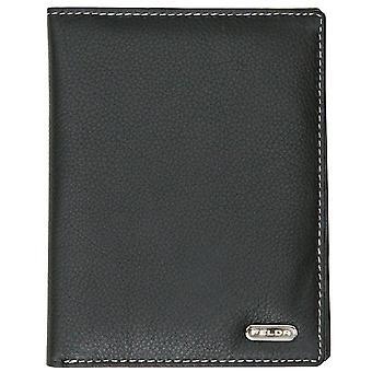 כיסוי מחזיק מכסה דרכון עם כרטיס אשראי (שחור)