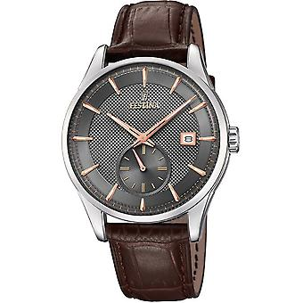 Festina mens watch classic retro F20277-3