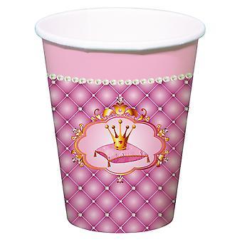 Becher Trinkbecher Cup Prinzessin Kinderparty Geburtstag 250ml 6 Stück