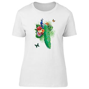 Green Feather Peacock Tee Women's -Image by Shutterstock