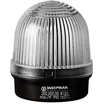 La lumière Werma attention 200.400.00 blanc sans escale signal lumineux 12 V AC, 12 v CC, 24 V AC, 24 Vdc, 48 V AC, 48 Vdc, 110 V AC, 230 V AC