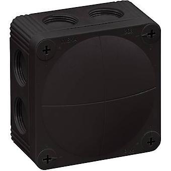 Wiska 10060581 Kopplingsdosa (L x B x H) 85 x 85 x 51 mm Svart IP66 1 st(ar)