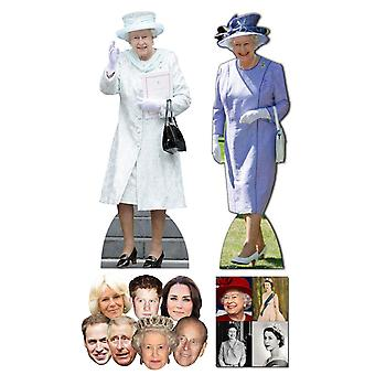 Queen Elizabeth II 90th Birthday Commemorative Pack A - includes Lifesize Cutouts Masks and Photo