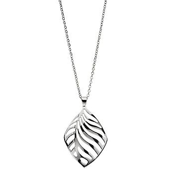 Necklace with heart pendant in stainless steel 47 cm carabiner