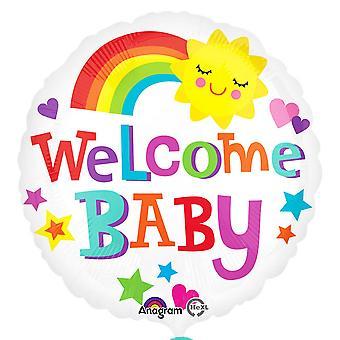 Palloncino Foil di anagramma Baby Boy/Girl 18 pollici benvenuta del bambino