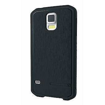 Kroppen handske Satin fallet för Samsung Galaxy S5 (svart)
