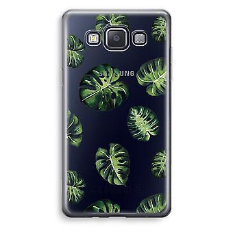 Samsung Galaxy A3 (2015) gjennomsiktig sak (myk) - tropiske blader