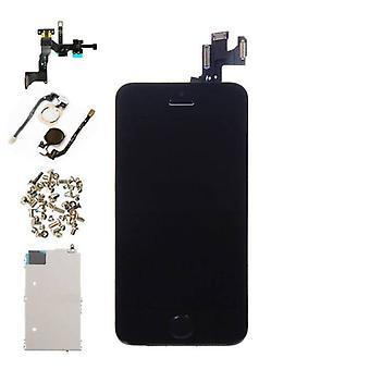 Stoff zertifiziert® iPhone 5S Front Mounted Display (LCD + Touchscreen + Teile) A + Qualität - Schwarz