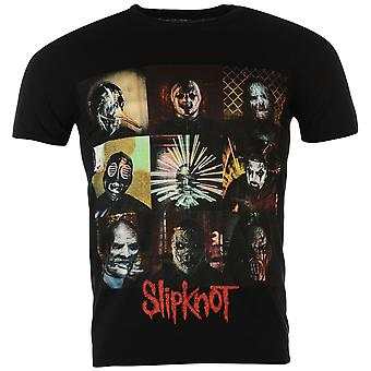 Officiel de Slipknot Mens bande bande graphique imprimé Crew Neck T Shirt Tee Top