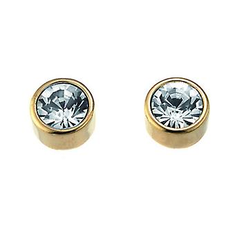 Oliver Weber Post Earring Single Gold Crystal