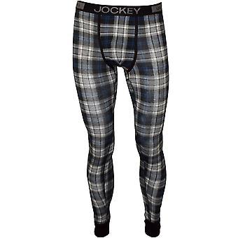 Jockey Modal Stretch Baumwolle lange Unterhosen, Stein grau Tartan