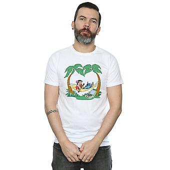 Lilo et Stitch de Disney masculin jouent quelques T-Shirt de musique