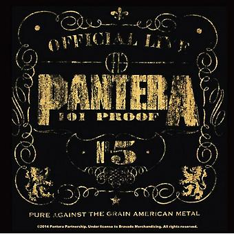 Pantera Coaster 101 Proof band new Official 9.5cm x 9.5cm single cork