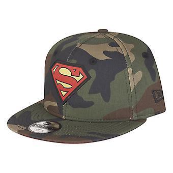 New Era 9Fifty Snapback KINDER Cap - Superman wood camo