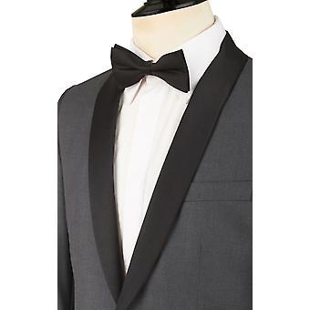 Dobell Herre trækul smoking middag jakke Slim Fit kontrast sjal revers