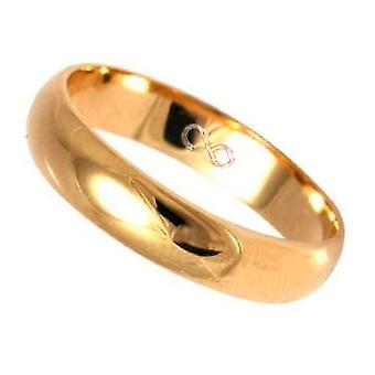 Ah! Simbolo di infinito di gioielli incisione oro su acciaio banda di nozze