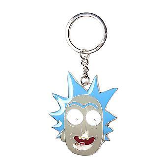 Rick and Morty Rick Face Character Keyring