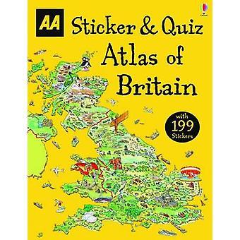Klister märke & Quiz Atlas över Storbritannien-9780749578145 bok