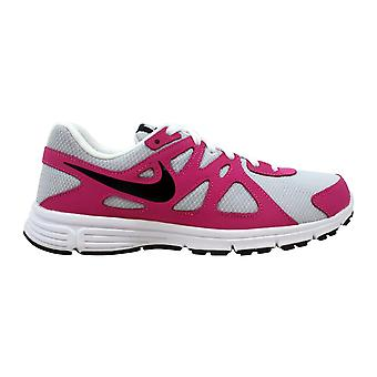Nike Revolution II 2 GS Pure Platinum/Black-FSN Pink-White 555090-002 Grade-School