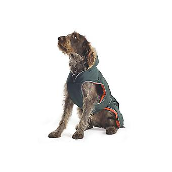 الكفوف الموحلة انكول معطف الكلب مشمع أخضر-صغير