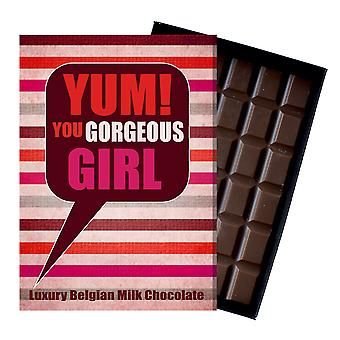 Thank You Gift for Women Girl Friend Boxed Chocolate Greetings Card Present for Her YUM102