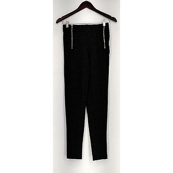 Slimming Options Leggings Ponte Knit Skinny Leg w/ Zipper Details Gray PTC