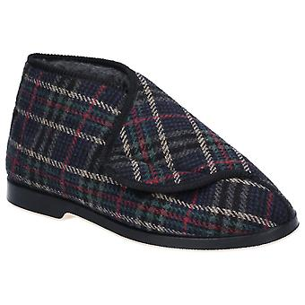 GBS Mens William Great British Touch Fastening Bootee Check