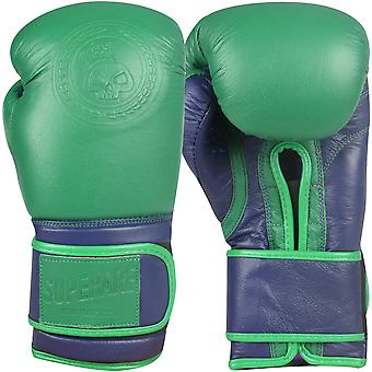Superare Gamma Hook and Loop Training Boxing Gloves - Green/Purple