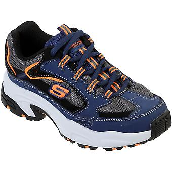 Skechers Boys Stamina-Cutback Lace Up Athletic Sports Shoes