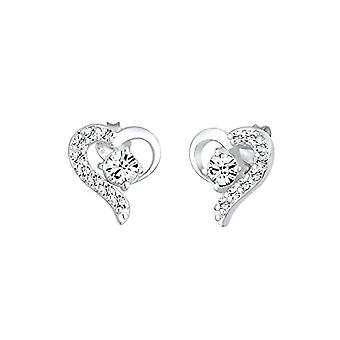 Elli Earrings women's pin in silver 925 with Swarovski Crystals