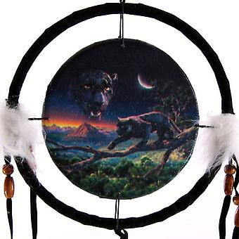 Panther and Moon Dream Catcher Small