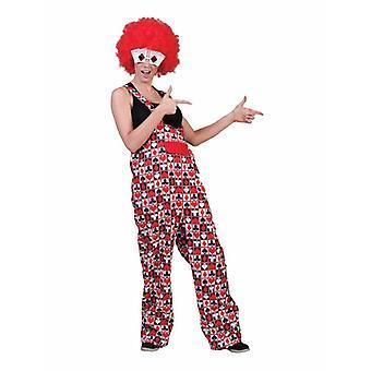 Kortspel Poker Heart SPADES Checker Cross slacks Unisex kostym spelare Tarot clown byxor