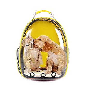 Yellow cat Dog bag backpack Transport bag