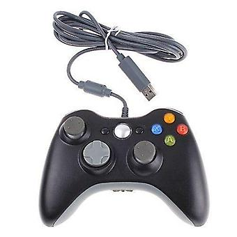 Compatible wired usb controller gamepad joypad for xbox 360 slim - black