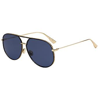 Dior Bydior 2M2/A9 Black-Gold/Blue Sunglasses